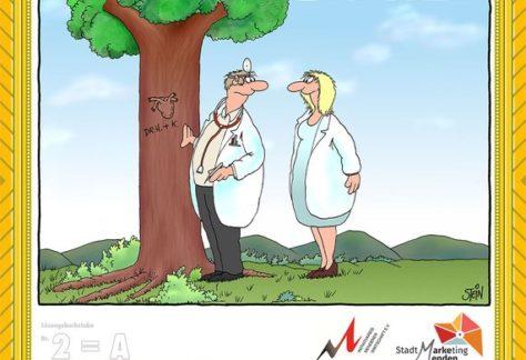 Cartoonmeile Uli Stein – Übergabe der Preise an die glücklichen Gewinner