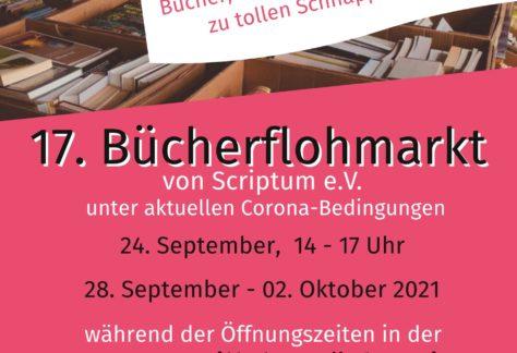 Großer Bücherflohmarkt von Scriptum e.V.
